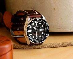 Seiko Core SKX 007 on brown leather                                                                                                                                                                                 More