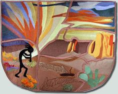 {The FREE DESIGN is the Kokopelli, the Black Figure, on the Purse. K.H.} TheBFC-Creations Machine Embroidery QIH Kokopelli Handbag and Free Design