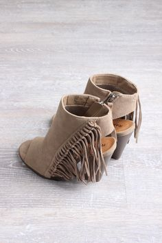 Lauryn Natural Fringe Bootie