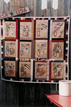 FLaG STiTCHerY QUiLT  PDF ePattern  by LizzieAndCoPatterns on Etsy, $8.00