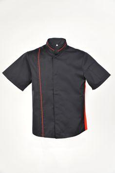 Bluza kucharska z bocznym systemem wentylacji.