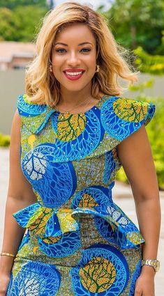 African Dress Ankara Dress Off Shoulder African Midi Dress African Fashion Ankara, Latest African Fashion Dresses, African Inspired Fashion, African Dresses For Women, African Print Dresses, African Print Fashion, Africa Fashion, African Attire, African Women