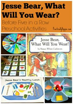 """Preschool activities and Before Five in a Row lessons for """"Jesse Bear, What Will You Wear?"""""""