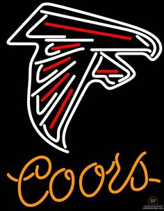 Coors Light Atlanta Falcons Neon Sign NFL Teams Neon Light