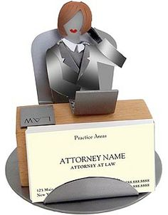 Female Lawyer Business Card Holder. $45