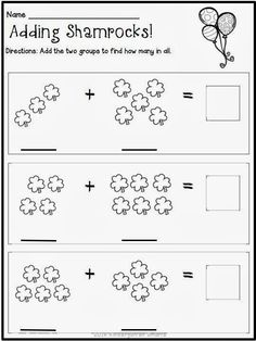 Kindergarten Smarts: St. Patrick's Day Math and Literacy Centers with Printable Worksheets [with a FREEBIE!!]