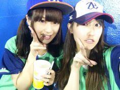 Rei and Laura in Jingu Baseball Studium.