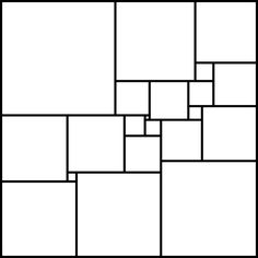 The pattern is the smallest solution to the problem of taking a square and dissecting it into a number of smaller squares, such that all of the smaller squares are of different sizes, in the sense that it requires the fewest number of smaller squares, 21. It was discovered by A. J. W. Duijvestijn in 1978