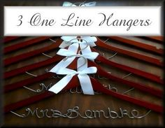 Huge savings when you order Bridal Hanger Sets! We offer sets of 2,3,4,5,6,7 & up, which offer huge savings over buying individually! Save as much as $70.00 by ordering in sets, the more you order the more you save. @ Lori Lynn's Wedding Hangers ;) ~