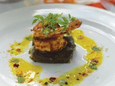 Spiced Prawns and Dolmades with Saffron Vinaigrette - Spicy prawn recipes | Australian Natural Health Magazine