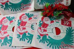 1 Vintage Holiday Hits 45 rpm Record by CaityAshBadashery on Etsy