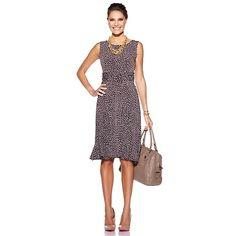Jessica Howard Ruched Waist Polka Dot Dress $69.00