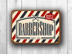 Barbershop Sign Vintage Style http://www.classicmetalsigns.com/product/barbershop-sign-vintage-style/