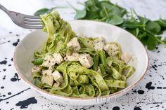 Cestoviny so špenátovým pestom a tofu Tofu, Healthy Recipes, Healthy Food, Pesto, Potato Salad, Cabbage, Food And Drink, Potatoes, Vegetables