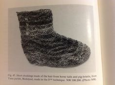 Horse hair and pig bristle stocking, from Odd Nordland's Primitive Scandinavian Textiles in Knotless Netting