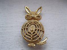 Vintage designer rabbit pin