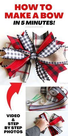 Diy Bow, Diy Ribbon, Ribbon Bow Tutorial, Burlap Wreath Tutorial, Bows With Ribbon, Making Ribbon Bows, Crafts With Ribbon, Hair Bow Tutorial, Making Hair Bows