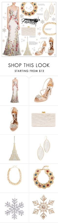 """""""Love for colorful embroidery"""" by bonnielindsay on Polyvore featuring Alexander McQueen, Badgley Mischka, Edie Parker, Charlotte Olympia, Theia Jewelry, Alexis Bittar, Ben-Amun and John Lewis"""