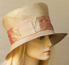 HAT SALE Honey Straw Bucket Cloche With Copper Gold by AwardDesign, $56.00