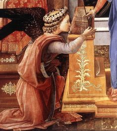 Fra Filippo Lippi The Annunciation with two Kneeling Donors (detail-1) c. 1440
