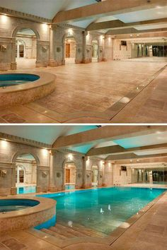 Ballroom floor doubles as hidden swimming pool