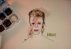 #davidbowie #illustration #illustrator #art #artistic #watercolor #nice #doodle #sketch #sketchbook #fastsketching