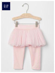 Tulle skirt legging duo