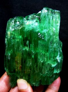 Hiddenite (green Chromium Spodumene ) Kunzite is the other famous member of this mineral family.