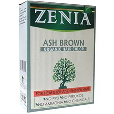 Zenia Organic Henna Hair Color Ash Brown 100g * Want to know more, click on the image. (This is an affiliate link) #HairCare