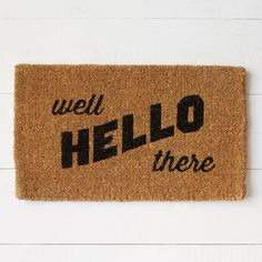 Well Hello There Coir Doormat | west elm