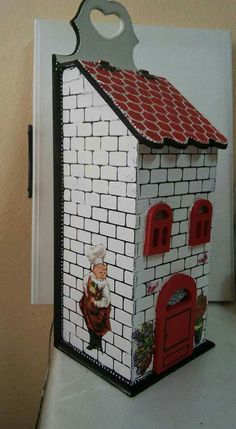 Home Crafts, Diy And Crafts, Arts And Crafts, Tole Painting, Painting On Wood, Diy Projects To Try, Wood Projects, Decoupage Box, Tissue Boxes