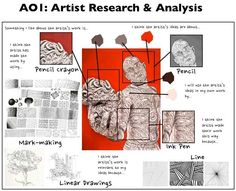 Example of how to create artist research Art History Lessons, Art Lessons, Drawing Lessons, Gcse Art Sketchbook, Sketchbooks, Fashion Sketchbook, Art Analysis, Art Doodle, Art Critique