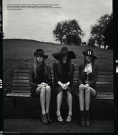 Witches    Models: Cara Delevingne, Codie Young, Magda Laguinge, Louise Parker and Charlie Bredal    Photographer: Richard Bush