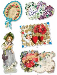 VINTAGE VALENTINES CD-ROM and Book by: Carol Belanger Grafton  -  Dover Publications FULL PAGE 6