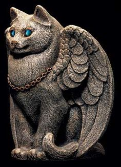 Good Cat Candle Lamp. Fantasy Cat Candle Holder Statuette w/ Votive $67.00