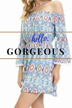 Gorgeous paisley print blue off the shoulder midi dress. Shop 🛍 Ledyz Fashions. This dress is truly a cute versatile dress that you can rock day or night. Off the shoulder neckline which looks great on so many different body types. The perfect blue off the shoulder vacation dress, blue off the shoulder party dress, and blue off the shoulder midi dress. This dress is perfect if you are attending a wedding, engagement party or bridal shower.   www.ledyzfashions.com