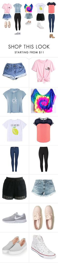 """UnTiTLeD #61"" by katie-lovebug on Polyvore featuring Calvin Klein, Venus, Chicwish, AG Adriano Goldschmied, NIKE, Hollister Co., Topshop, Converse, Sole Society and plus size clothing"
