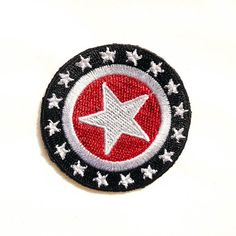CANADA SHIELD WITH SILVER TRIM. EMBROIDERED IRON-ON PATCH CREST BADGE 2.5X3 IN