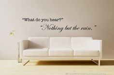 Nothing but the Rain Battlestar Galactica Quote by ViciousVinyl, $15.99