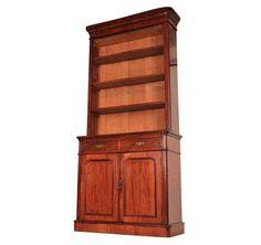 Mahogany Bookcase, Kingdom Of Great Britain, Good Dates, Cupboard Doors, Brass Handles, Adjustable Shelving, Shelves, The Originals, Top