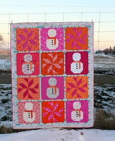 Let it Snow Quilt by Kim Lapacek Let It Snow, Let It Be, Bright Quilts, Blanket, Ideas, Blankets, Cover, Thoughts, Comforters