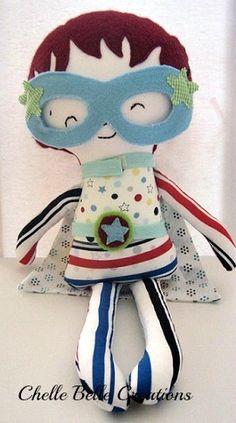Boy Super Hero Softie Doll - by ChelleBelle on madeit