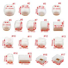Super Large Thick Table Leg Pads Protectors Adhesive