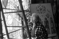 Marc Chagall, 1960, one of forty artists' portraits seen here. I love to see them in their studios.