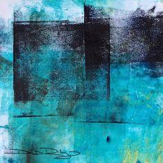 cobalt teal blue pg50 acrylic abstract, debiriley.com