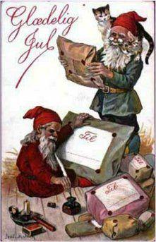 Gammelt dansk julekort.
