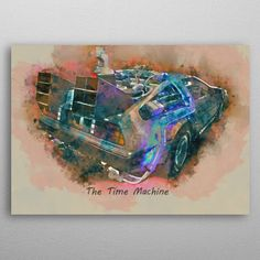 The Time Machine by Abraham Szomor | metal posters - Displate