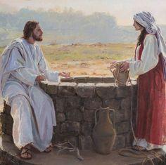 «Venez boire à la fontaine, au puits de la Samaritaine, venez boire aux sources vives ... des fleuves jailliront de vous...» (Jean 4:13–14)