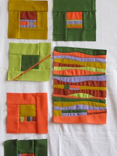 Quilt History Reports: Jean Wells Keenan Comes to Lopez! Modern Quilt Blocks, Modern Quilt Patterns, Sewing Machine Drawing, Gees Bend Quilts, Crumb Quilt, Geometric Quilt, Fabric Postcards, Miniature Quilts, Textile Fiber Art