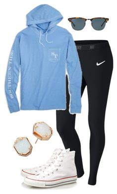 """""""?¿"""" by preppyjulie ❤ liked on Polyvore featuring NIKE, Southern Tide, Converse, Ray-Ban and Kendra Scott"""